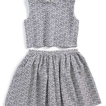 Girl's Pippa & Julie Sleeveless Top & Skirt