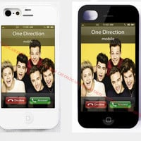 1D ONE DIRECTION CALLING/CALL END/IPHONE 4/4S/5, 5S,5C,6,6 plus HARD CASE COVER