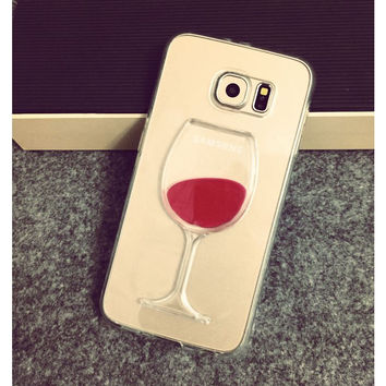 Red Wine Liquid Glass Case
