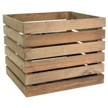 Wood Large Milk Crate - Threshold™
