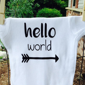 Hello World baby bodysuit