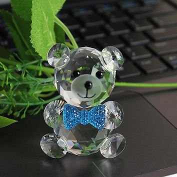 Crystal Cute Bear Figurine