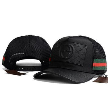 PEAPNV GUCCI Women Men Fasgion Breathable Adjustable Travel Hat Sport Cap G