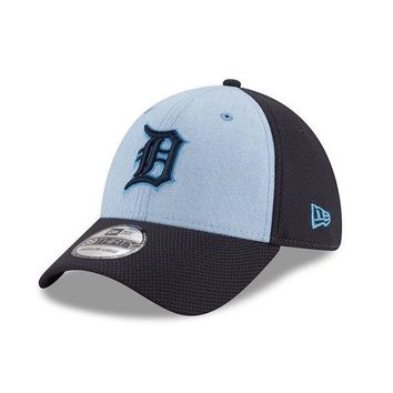 MLB Detroit Tigers Light Blue 2018 Father's Day 39THIRTY Flex Hat