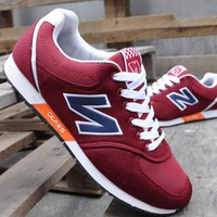 NEW BALANCE Women Men Casual Running Sport Shoes Sneakers Red