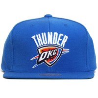 Oklahoma City Thunder Wool Solid Snapback Hat Blue