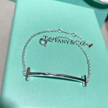 Tiffany & Co. Sterling silver to create a smile bracelet