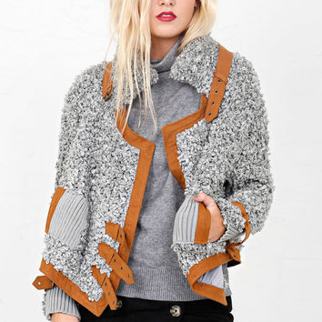 FOR LOVE & LEMONS | Elodie Moto Jacket - Grey