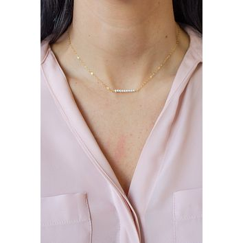 Pearl Bar Necklace - Christine Elizabeth Jewelry