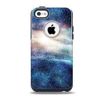 The Blue & Gold Glowing Star-Wave Skin for the iPhone 5c OtterBox Commuter Case