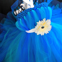 Ocean Mist Tutu Dress-Baby Tutu Dress-Toddler Turquoise Tutu Dress-Tulle Tutu Dress Blue Tutu Dress-Tutu-Flower Girl Dress-Photo Prop
