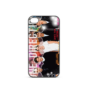 One Direction Illustration iPhone 4 / 4s Case