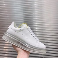 Alexander Mcqueen 2020 Hot Sale Woman lace up low top boots Leisure Sport Shoes Sneakers top quality white