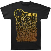 Nirvana Men's  Many Smiles T-shirt Black Rockabilia