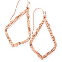 Sophia Drop Earrings In Rose Gold