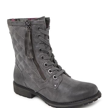 Roxy Rockford Quilted Lace Up Boots - Womens Boots - B