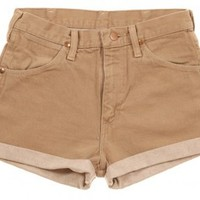 Rokit Recycled Wrangler Denim Turn Up Shorts W30 - Vintage clothing from Rokit - denim shorts, shorts