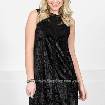 Midnight Velvet Lace Dress