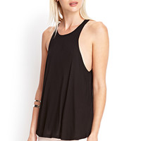 FOREVER 21 Double Racer Jersey Tank