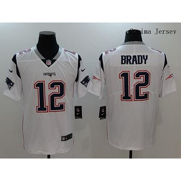 Danny Online Nike NFL Jersey Men's Vapor Untouchable Color Rush New England Patriots #12 Tom Brady Football Jersey White