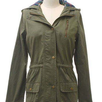 Mine Clothing Twill Jacket in Olive TA7173