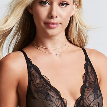 Sheer Lace Underwire Bra