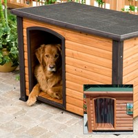 Precision Extreme Outback Log Cabin Dog House with FREE Dog Door | www.hayneedle.com