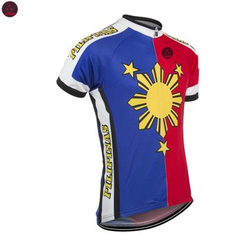 NEW 2017 Philippines Pilipinas Jersey Bike RACE Team Cycling Jersey Wear Clothing Breathable Customized Ropa CICLISMO JIASHUO