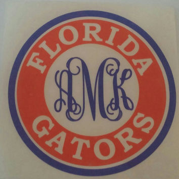 Personalized Florida Gators Decal, College Footbal Decal, Florida Gators Car Decal, Florida Gators laptop Decal,Florida Gators Phone Decal