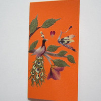 """Handmade unique greeting card """"Opposites attract"""" - Pressed flowers greeting card - Unique gift - Art card - Original art collage."""