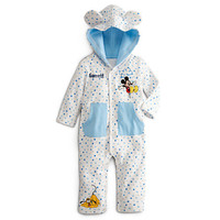 Disney Mickey Mouse and Pluto Hoodie Coverall for Baby - Personalizable | Disney Store