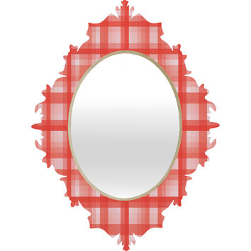 Lisa Argyropoulos Country Plaid Vintage Red Baroque Mirror