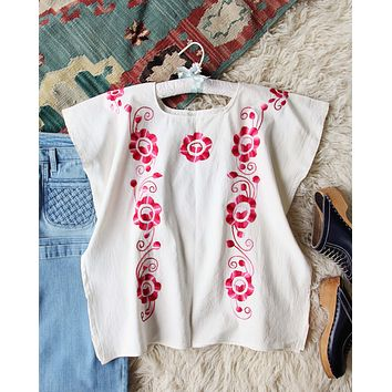 Vintage 70's Mexican Embroidered Top