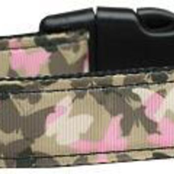 Camo Butterflies Nylon Dog Collar Medium