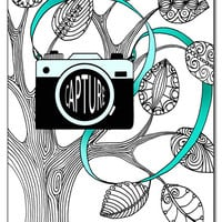 Camera 5x7 Card and Bookmark Doodle Set
