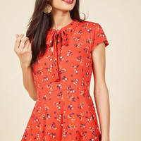 Feeling Feminine Knit Top in Red Floral | Mod Retro Vintage Short Sleeve Shirts | ModCloth.com