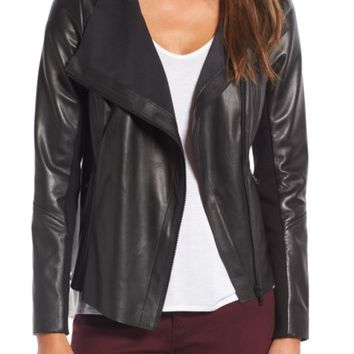 Trouvé Raw Edge Leather Jacket | Nordstrom