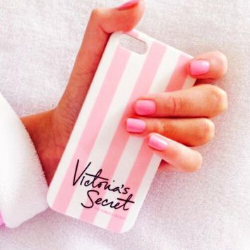 Victoria's Secret Fashion Stripe iPhone Phone Cover Case For iphone 6 6s 6plus 6s-plus 7 7plus Day-First™