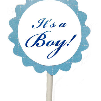 Cupcake toppers for baby boy shower