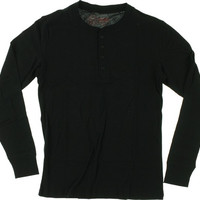 Spitfire Stock Bighead Henley Longsleeve Medium Black