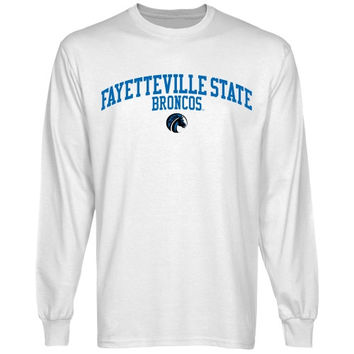 Fayetteville State Broncos Team Arch Long Sleeve T-Shirt - White
