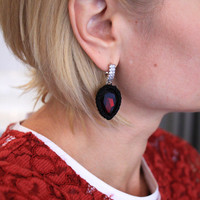 Hand-knitted Glass Earrings By Gosia Orlowska Designs