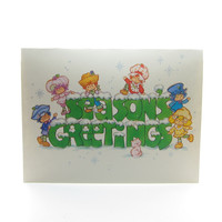 Season's Greetings Strawberry Shortcake Holiday Greeting Card with Envelope