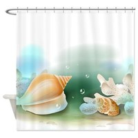 Seashells Shower Curtain> Decorator Shower Curtains> MORE PRODUCTS-CLICK HERE-GetYerGoat.com
