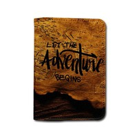 Vintage Compass Let The Adventures Begin Passport Holder - Customized Adventures Awaits Cute Travel Passport Covers - Passport Wallet Emerishop