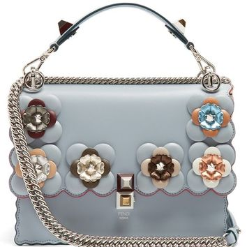Kan I flower-embellished leather shoulder bag | Fendi | MATCHESFASHION.COM UK