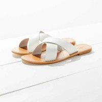 Leather Cross Strap Slide