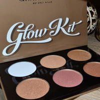 New arrival Ultimate Glow Kit 6 Colors Shadow Highlighter Palette Highlighting Bronzer Palette New Cosmestics Makeup Dropship