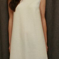 Sleeveless 3/4 Length Nightgown Cotton/Poly Basket Weave Made In USA | Simple Pleasures, Inc.