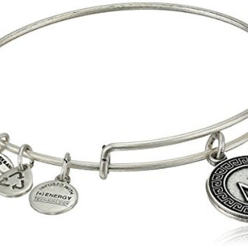 "Alex and Ani ""Sorority"" Delta Gamma Expandable Rafaelian Silver Finish Wire Bangle Bracelet, 2.6"""